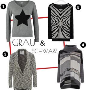 Outfit Grau&Schwarz von domodi