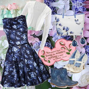 Outfit blue Flowers von Mbali