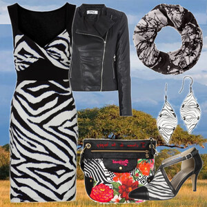 Outfit Zebra-Style von Mbali