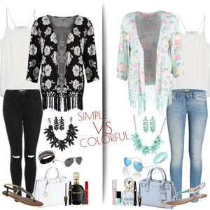 Outfit simple vs. colorful - What's your favourite? von Natalie