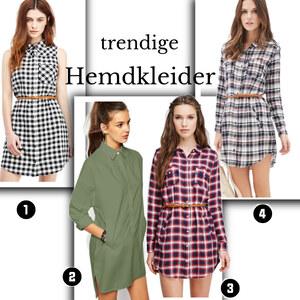 Outfit Trendige Hemdkleider von domodi