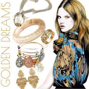 Outfit Golden Dreams von Lesara