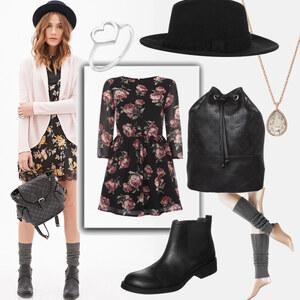 Outfit Blumenkleid von domodi