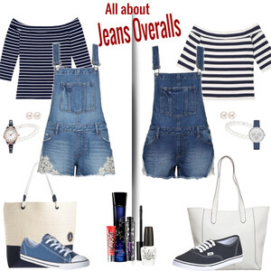 Outfit all about jeans overalls von Natalie