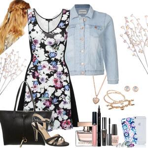 Outfit flower dress von Natalie
