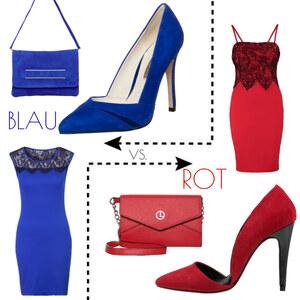 Outfit Blau vs. Rot von domodi