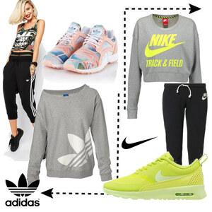 Outfit Adidas vs. Nike von domodi