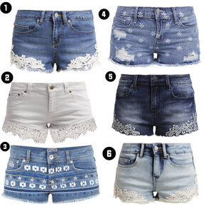 Outfit Trendige Jeans-Shorts von domodi