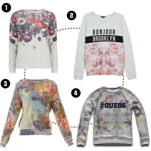 Outfit Sweatshirts mit Blumenprint von domodi