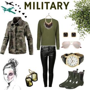Outfit Military von Julia de Nys