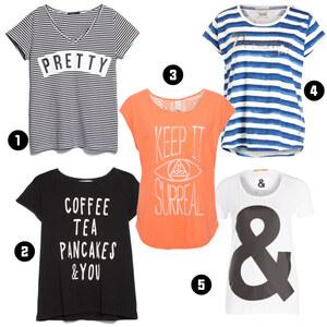 Outfit T-Shirts mit Aufschriften von domodi