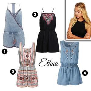 Outfit Ethno-Overalls von domodi