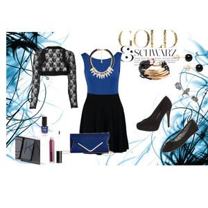 Outfit Gold&Schwarz von Louisa Schulte