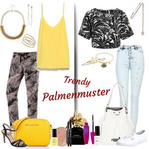 Outfit trendy palmenmuster von Natalie
