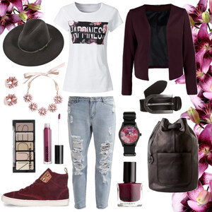 Outfit Berry Casual von Annik