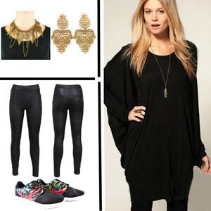 Outfit Cool in schwarz von Lesara