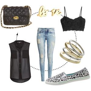 Outfit Zerrissene Jeans <3 von domodi