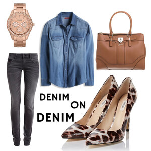 Outfit Jeanshemd von domodi