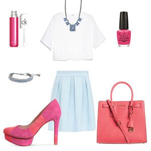 Outfit pink&blue von louisa.bernard