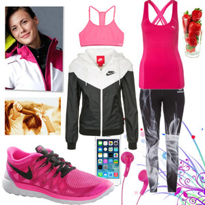 Outfit pink sports von Claudia Giese