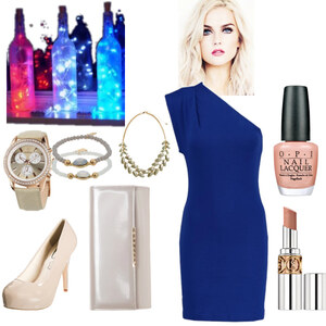 Outfit blue and nude von Claudia Giese