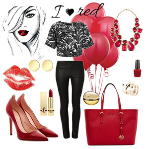 Outfit I Love red von A.N.N.A