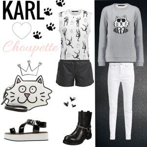 Outfit KARL loves Choupette  von Julia de Nys
