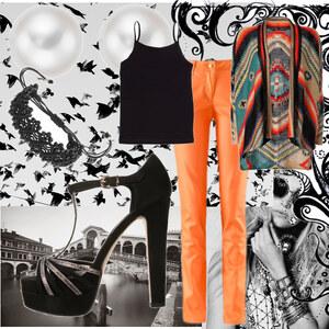 Outfit Orange CHLOÉ von Bonnie Elisabeth Chloé