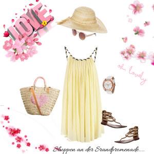 Outfit Shoppen an der Strandpromenade von Babyblue