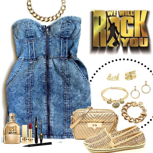 Outfit gold and jeans von Ania Sz