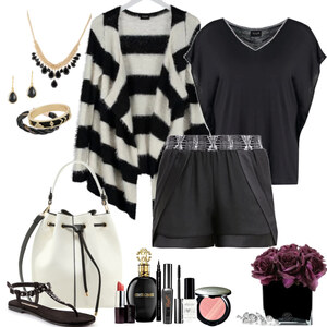 Outfit black and white von Natalie