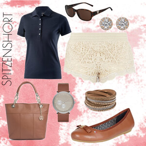 Outfit Spitzenshort von Kim Klein