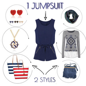 Outfit Ein Jumpsuit - Zwei Styles von Lesara