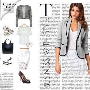 Outfit Stylish im Büro - Businesslook neu interpretiert von Lesara