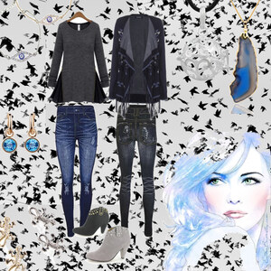 Outfit Casual Blues von Lesara