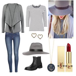 Outfit grauer hut von Claudia Giese