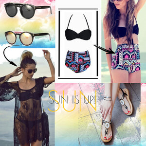 Outfit SUN IS UP! - Stylish am Strand von Lesara