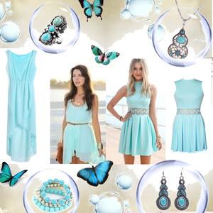 Outfit Verliebt in Türkis von Lesara