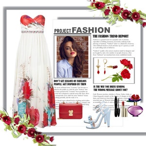 Outfit red flower von Ania Sz