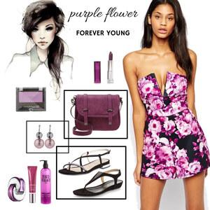 Outfit purple flower von selinavolk