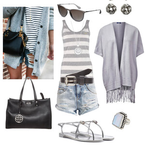 Outfit siver and grey von Claudia Giese