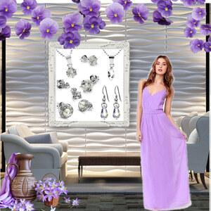 Outfit Purple Goddess von Lesara