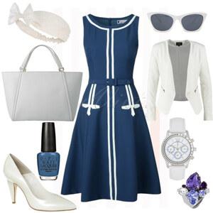 Outfit Blue-White-Chick von Anneke Geist