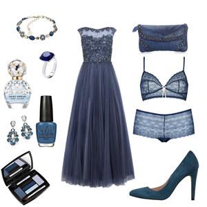 Outfit Ball-Blau-Chick von Anneke Geist