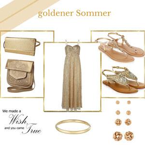 Outfit goldener sommer von selinavolk