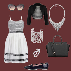 Outfit Black-&-White-Chick von Anneke Geist