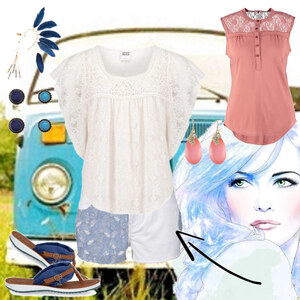 Outfit Short white Jeans Combi von Mbali