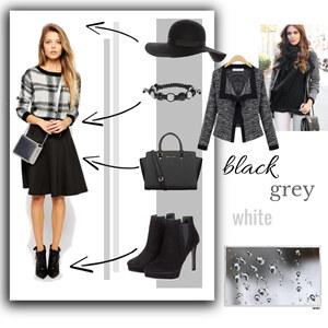 Outfit black-grey-white  von selinavolk