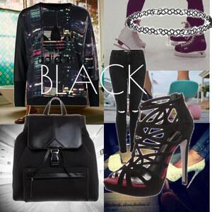 Outfit black von Soraya Loch