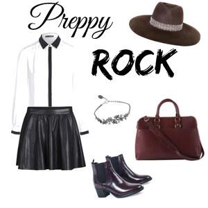 Tenue Preppy Rock sur Polly Maggoo